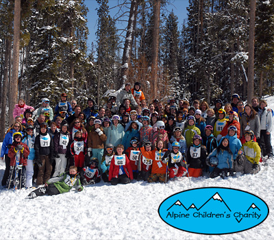 Group photo of the Alpine Children's Charity