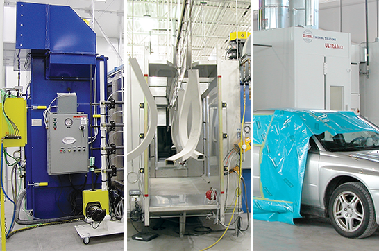 paint booths and finishing enviornments